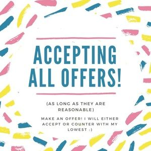 All reasonable offers accepted ❤️